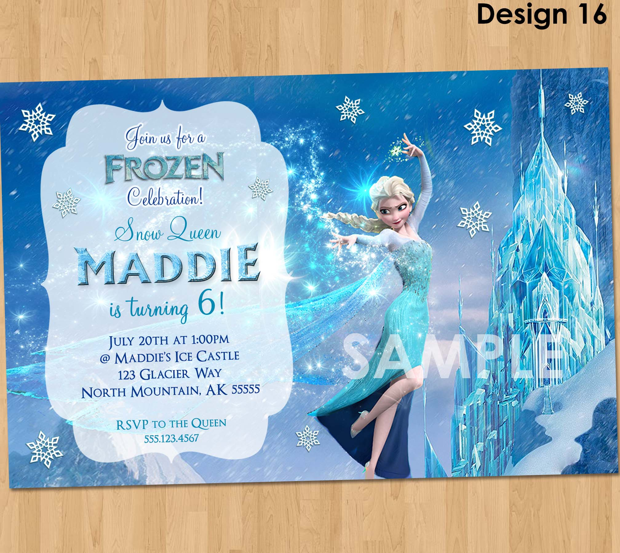 photo relating to Frozen Invitations Printable titled Elsa Frozen Invitation - Frozen Birthday Invitation - Disney Frozen Birthday Invitation - Frozen Celebration Guidelines Printable Elsa Snow Queen